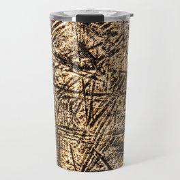 Scratched Copper Travel Mug