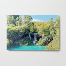 Waterfalls in Plitvice NP - Croatia Metal Print
