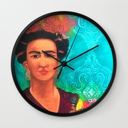Frida Fragil y fuerte Wall Clock