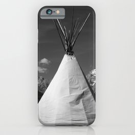 Tipi against snow capped Mountains iPhone Case