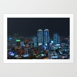 Daegu at Night Art Print