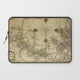 Map Of North Pole 1800 Laptop Sleeve