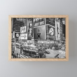Times Square II (B&W widescreen) Framed Mini Art Print