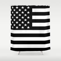 flag Shower Curtains featuring Flag by Stephanie Janeczek