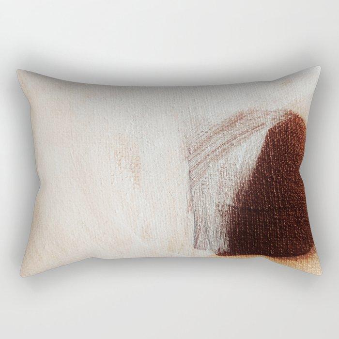 Brown dot Rectangular Pillow