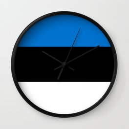 Flag: Estonia Wall Clock