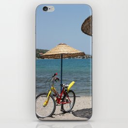 Summer, bike & sea iPhone Skin