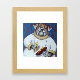 Haute Dog Chef Framed Art Print