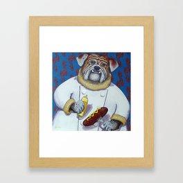 Haute Dog Chef Framed Art Print