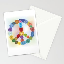 Peace Sign In Colors Stationery Cards