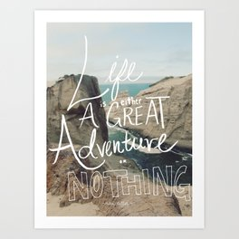 Great Adventure Art Print