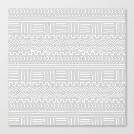 Mud Cloth on Light Gray Canvas Print