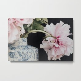 Pink Peonies II - Flower photography by Ingrid Beddoes Metal Print