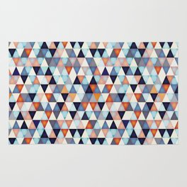 Abstract mosaic triangle colors Rug
