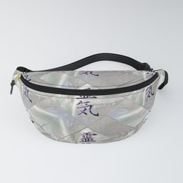 Reiki Symbols Pattern on Amethyst and peal Fanny Pack