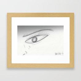 Crying Framed Art Print