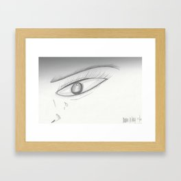 Crying Framed Art Print