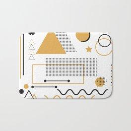 Memphis Pattern Design Bath Mat