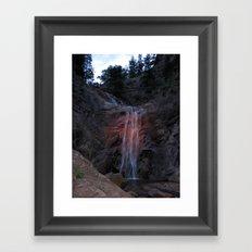 A Summer Waterfall Framed Art Print