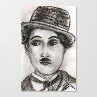 charlie Canvas Prints featuring Charlie by sladja