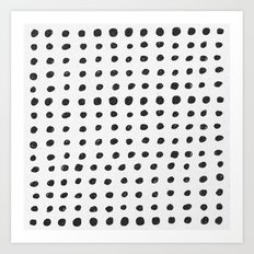Scribble Dots Art Print