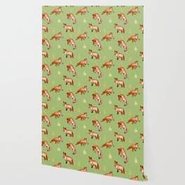 Foxy Pattern Wallpaper