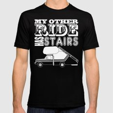 My Other Ride Has Stairs MEDIUM Mens Fitted Tee Black