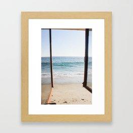 Beachfront View in Laguna Beach, CA Framed Art Print