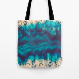 Blue Agate River of Earth Tote Bag