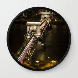 Budapest Chain Bridge Wall Clock