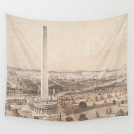 Vintage Pictorial Map of Washington DC (1852) Wall Tapestry