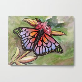 Sunrise Butterfly Metal Print