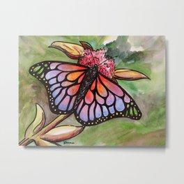 Sunrise Butterfly Metal Print