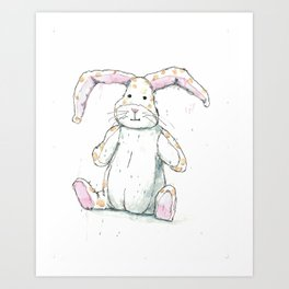 Veveteen rabbit Art Print