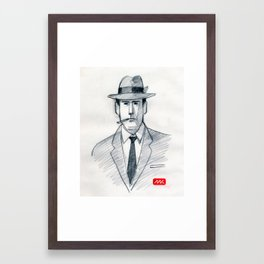 Mad Man (drawing) Framed Art Print