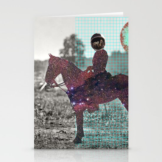 Space Lord Collage Stationery Cards