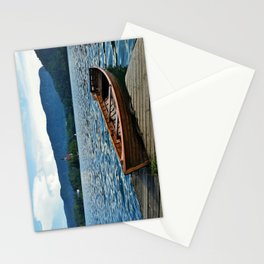 Wooden Boat on Lake Bled Stationery Cards