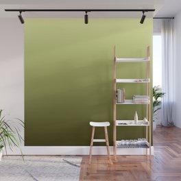 Yellow Olive Green Backgrund Wall Mural