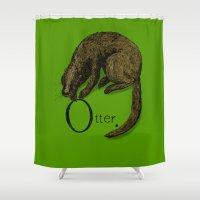 otter Shower Curtains featuring Otter by zuzia turek