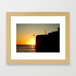 Sun leap Framed Art Print