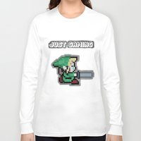 gaming Long Sleeve T-shirts featuring JUST GAMING by Edgar