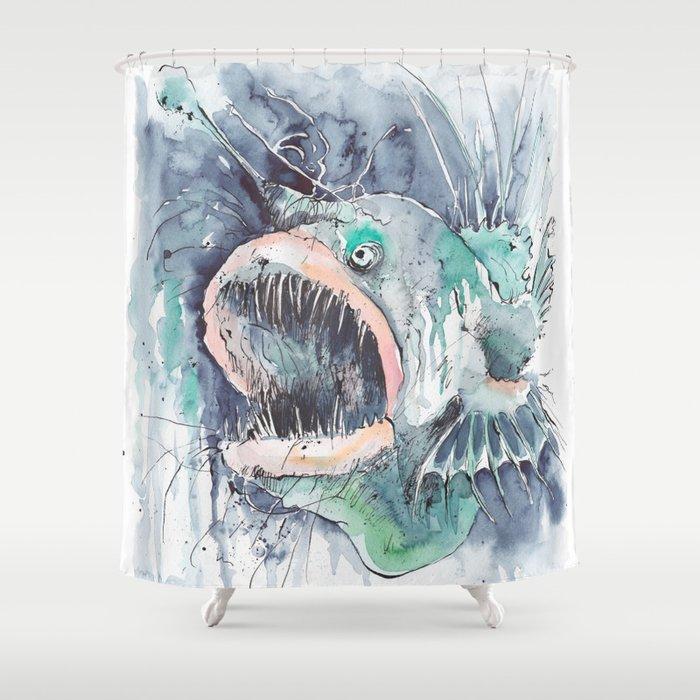 Angler Fish Shower Curtain