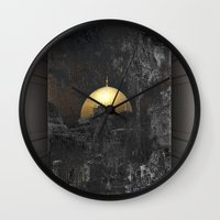 palestine Wall Clocks featuring Dome of the Rock by dominiquelandau