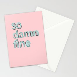 So damn fine Stationery Cards