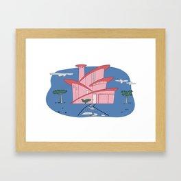 Pink Panther's Modern House Framed Art Print