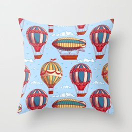 balloons and airships Throw Pillow