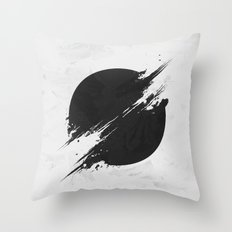 The Sun Is Black Throw Pillow