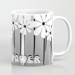 Flower Power in Black and White Coffee Mug