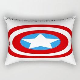 CaptainAmerica Minimalist Poster Rectangular Pillow