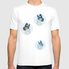 Hampster Butterflies Mens Fitted Tee White MEDIUM